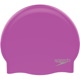 speedo Plain Moulded Bonnet de bain en silicone, purple/chrome